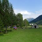 Àrea de pícnic a la vall de Pineta