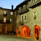 Plaça major o Firal dels Bousde Santa Pau