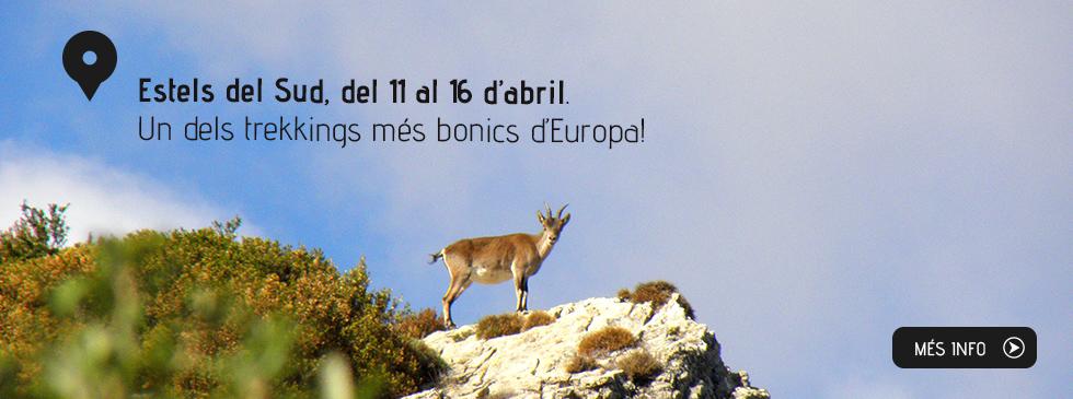 Estels del Sud, del 24 al 29 d'octubre. Un dels trekkings més bonics d'Europa!