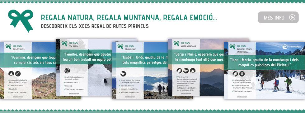 Vols fer un regal del tot original? Descobreix els xecs regal de Rutes Pirineus