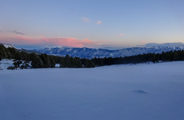 Curs d`esquí de muntanya