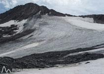 Bonica panoràmica de la glacera Lombard i l´Aiguille du Goléon.