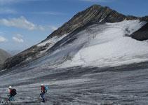Baixant per la glacera Lombard.