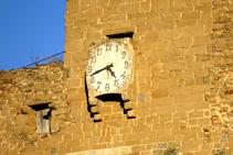 Detall del rellotge de Sant Esteve.