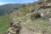 Trencall de l´ermita de Sant Roc.