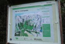 Panell informatiu amb mapa de situació de la zona.