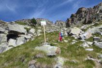 La senyalització ens indica que entrem en zona del Parc Nacional.