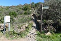 Trencall del camí antic al Cap de Creus.