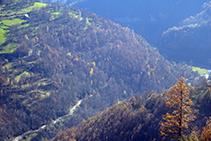 Vistes al fons de la vall del Freser.
