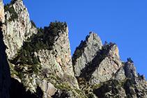 El relleu abrupte de les roques del Ras.