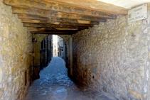 Carrerons del nucli antic de Sant Llorenç.