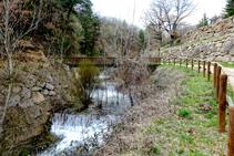 Pontet d´Arcalís, sobre e el riu Cardener.