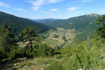 Vistes des del mirador de la vall de Belagua.