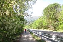 Caminem pel camí que avança en paral·lel a la carretera C-13.