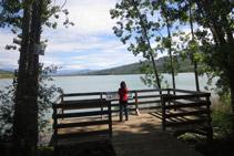 """Mirador del campament """"El Pago"""", un punt amb bones vistes del pantà de Terradets."""
