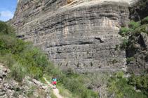 Des del corriol tenim unes vistes fantàstiques de Roca Regina.