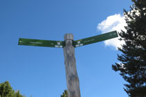 Senyalització que hi ha al costat del refugi del circuit de BTT i 4x4.