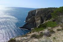 Extrem oriental del Cap de Norfeu des de la Punta de la Trona.