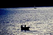 Pescadors al capvespre.