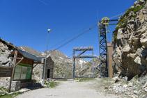 Estació superior del telefèric de la Vall Fosca.