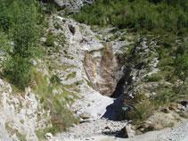 Barranc de la Vispeta, que més amunt rep el nom de barranc de Montaspro.