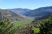 Vista del fons de vall des de Malmercat.