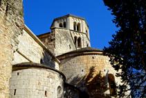 Detall del monestir de Sant Pere de Galligants.