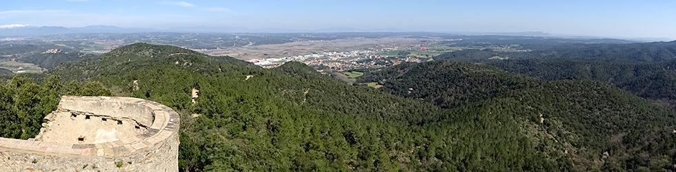 El castell de Sant Miquel des de Girona