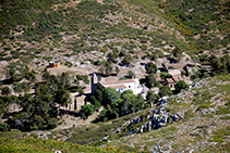 L´ermita de Santa Caterina vista des del castell.