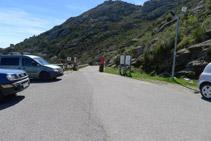 Aparcament que hi ha al final de la carretera d´accés al monestir de Sant Pere de Rodes.