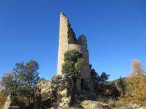 Torre circular del castell de Sant Gervàs.
