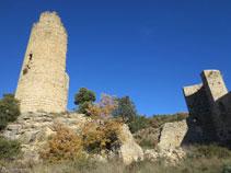 Torre central (16m) i torre semicircular.