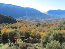 Boniques vistes de la vall de Barcedana al costat del Montsec.