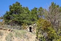 Cabana de pedra seca.