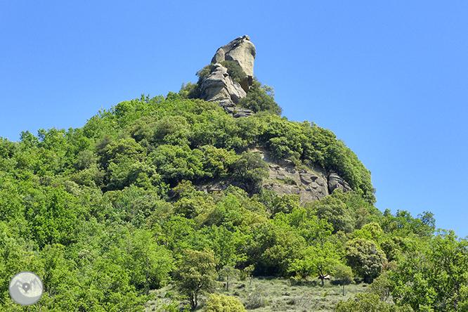 El salt de Sallent i els cingles de Casadevall des de Rupit 1