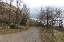 Cruïlla de camins on enllacem amb un ramal del PR C-128.
