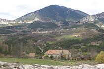 Vista panoràmica de Vallcebre i de la serra d´Ensija.