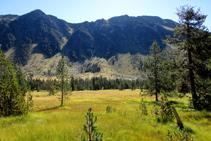 Vista de les torrenteres que baixen de la serra de Sendrosa.