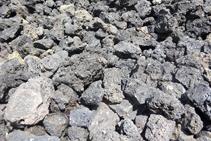 Escòria volcánica.