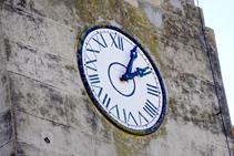 El rellotge de l´església de Sant Pere.