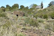 Cabana rodona de pedra seca.