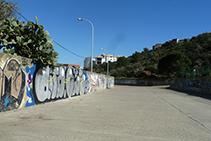 Llit de Sa Riera al costat de la depuradora d´aigües residuals de Cadaqués.