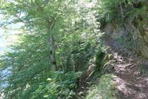 El camí fa vàries ziga-zagues i va guanyant altitud en tot moment.