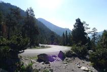 Carretera que uneix el llac d´Orédon i el llac d´Aubert.