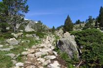 Fites de pedres al llarg del camí.