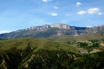 Vistes de la serra de Sant Gervàs des de lo Serrat.