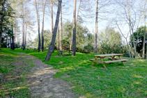 Zona de pícnic a la muntanya de Sants Metges.