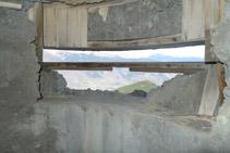 Interior del búnquer.