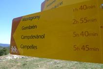 Senyalització vertical de la xarxa Itinerànnia que trobem al collet de Meians.