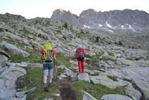 Pujant per la vall d´Eriste, en direcció al torrent de Llardaneta.